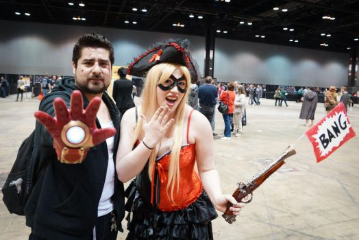 C2E2 Tony and PirateQuinn by SirKirkules