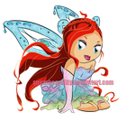 Chibi Winx Club Bloom by sugarbearkitty