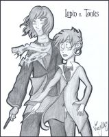 Lupin and Tonks by Shmivv