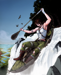 Lara Croft, The Fall by Deingeist