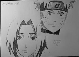 Naruto and Sakura by Monstacookie