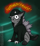 Halloween 2013 - Pebzilla by GingaAkam