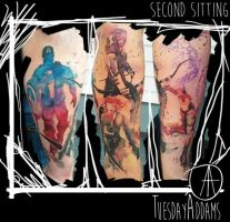 Avengers Water Color Sleeve 2nd Sitting by TuesdayAddams