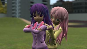 Human Fluttershy and Twilight Download (V1.1) by Legoguy9875