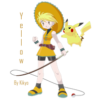 Pokemon Trainer Yellow and Pika by Madame-Kikyo
