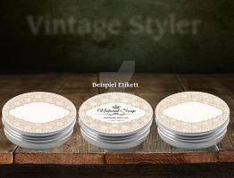 6 Vintage Blank Round Templates Without Text by VintageStyler