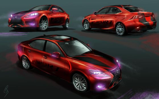 Lexus IS FSport Concept Submission by Zeiram3f