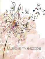 Music is my escape by aoilucky7