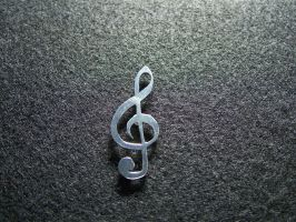 Treble Cleft Pin by SomethingForEveryone