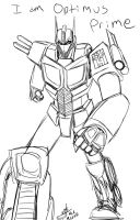 Day of the Moose Sketch 3: Optimus by ConstantM0tion