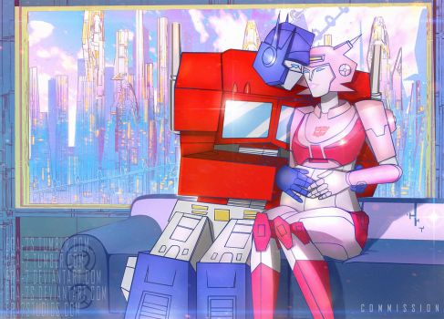 G1 Elita-1 and Optimus Prime by ERA-7S
