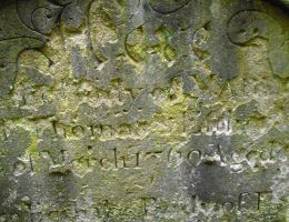 Stock Texture - cemetery stone with text II by rockgem