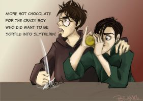 A Slytherin In Gryffindor by periwinkle-blue