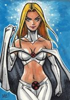 The White Queen Sketch Card by MasonEasley