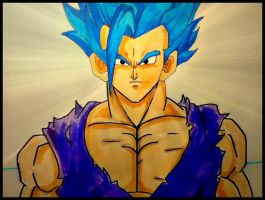 Ultimate Super Saiyan Gohan|Blue haired ssj by varuik