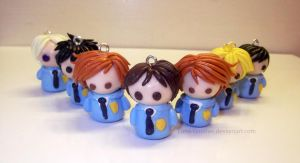 Ouran Charm Set by Luna-Goodies