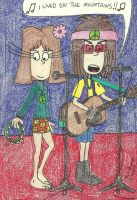 Hippie Duo At The Drinking Bum by gretzelboy89