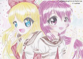 `:Kyoko and Ayano:` by FlyingCatsandGlitter