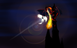 Wallpaper - Dragon Spire by kyrio