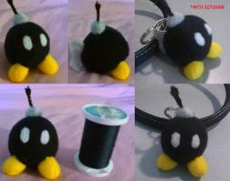 Bob-omb Mini Plush / Keychain by eternityOnlooker