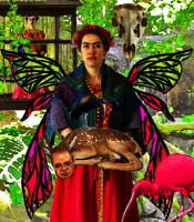 Frida Kahlo by VolpeNucleare
