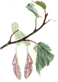 Plique-a-jour Wing Earrings 2 by MicheleCobb
