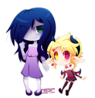 Emma and Rinny Chibi by Sandette