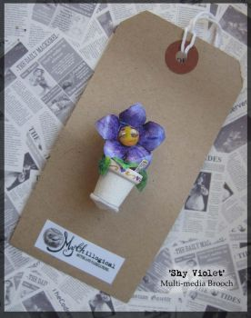 Shy Violet Brooch by Unfairytales