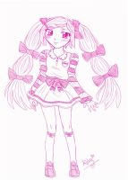 Pink Girl by kawaii-little-neko