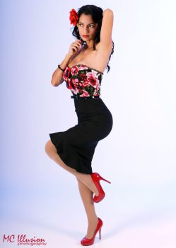 Pinup dress by Ivy95