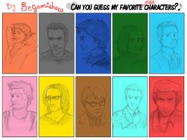 Favorite Male Characters by Segomichoco