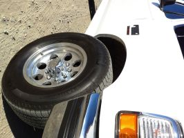 1997 Ford F250 Powerstroke aluminum rims Michelins by Partywave