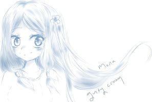 Mana - Guilty crown - Sketch by Bubble-Crown