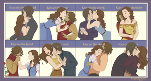 Kiss Meme- Rumbelle by AngelQueen13