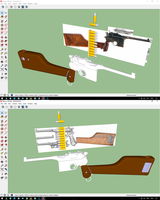Mauser C96 pistol model for MMD WIP by MasterOfHelium