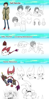 :DWC: Sal and Nekonimon ref by dragonmanX