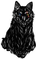 Wolf Sketch by blackRAVENsong