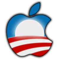 Barack Obama Apple Logo by TheIronLion