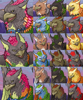 Free Ferian Gryphon Portraits by FerianMoon