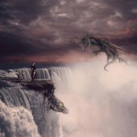 Dragon Falls by whitewinged