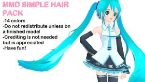 MMD Simple Hair Texture Pack by cantbejawsome