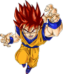 Super Saiyan God  Goku Render by ssdeath3