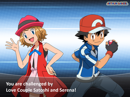 AmourShipping SatoshixSerena ~ Love and Fight2 by SatoshiLovesSerena