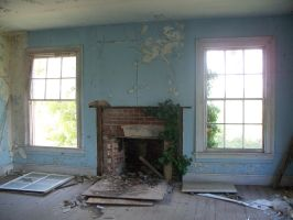Blue Room abandoned house stock by micheleoxton