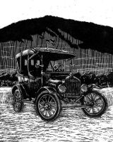 old Ford buggy by rapidograph