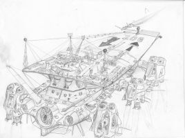 flying carrier206 by scifieart10000