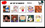 My top 10 favorite animated babies. by Smurfette123