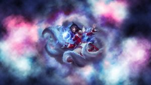 Ahri Wallpaper by cludix