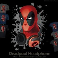 Deadpool headphone - Welovefine tee shirt by hinoraito