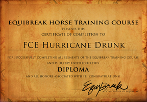 FCE Hurricane Drunk - Diploma by Foxerettes